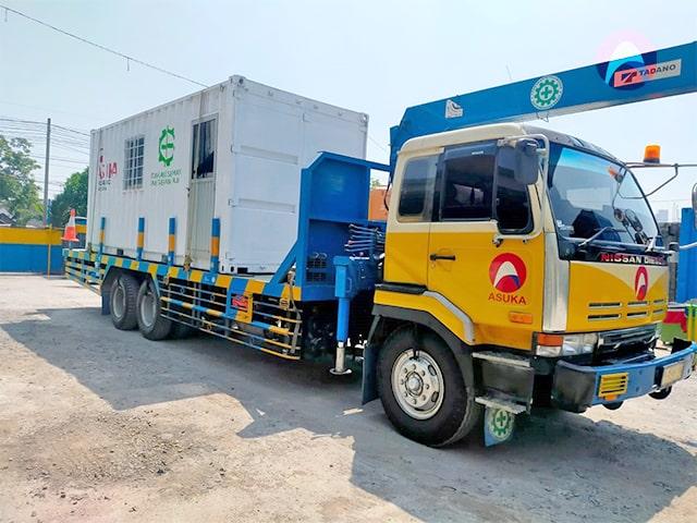 Read more about the article Prosesi Mobilisasi Container Asuka ke Area Project PT. Nestle Kejayan Pasuruan